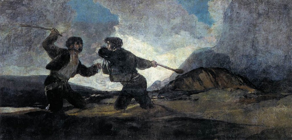 Goya, Duel with Cudgels 1820-3