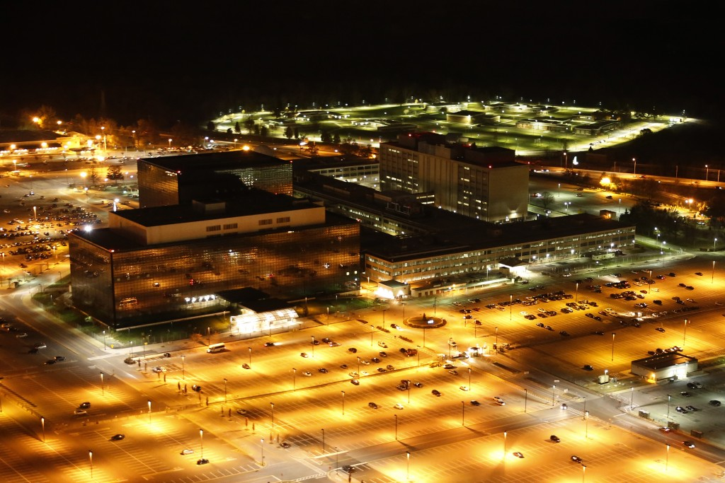Aerial photograph of the National Security Agency by Trevor Paglen.  CCC 1.0